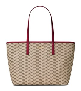 Michael Kors Tote in Natural/Cherry