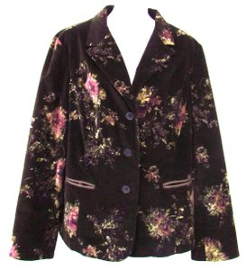 J. Jill Cotton Blend Brown Jacket