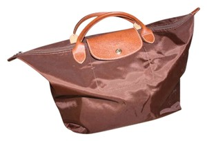 Longchamp Expandable Like New Carry On Leather Brown Travel Bag