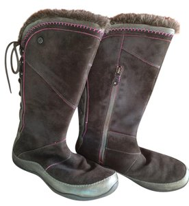The North Face Winter Boot Suede Janey Brown Boots