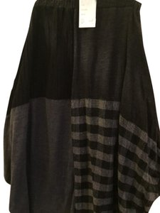 Ivan Grundahl 100% Wool Two Pockets Fits Generously Made In Portugal Skirt Grey Check and Solids