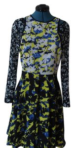 Peter Pilotto for Target short dress black yellow on Tradesy