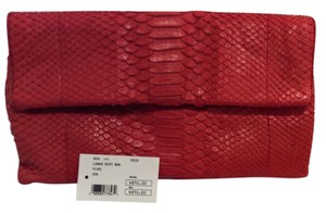 Hunting Season Snake Skin Red Clutch