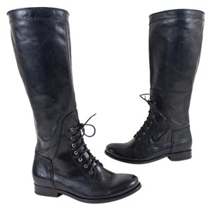 Frye Lace Up Tall Riding Black Boots
