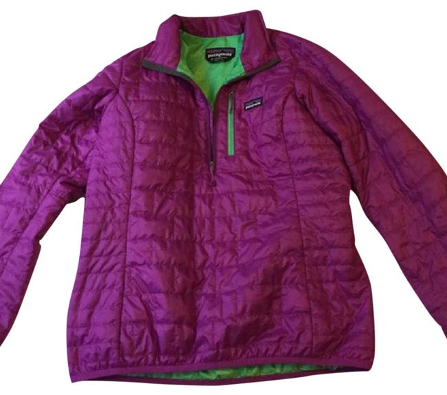 Item - Purple and Green Pullover Coat Size 8 (M)