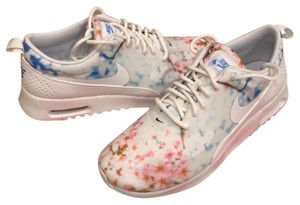 Nike White/Pure Platium and Cherry Blossom Athletic