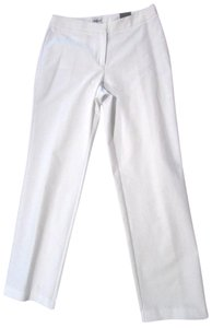 Chico's Relaxed Fit Straight Pants White