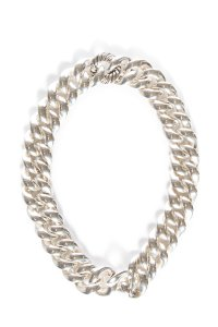 David Yurman Sterling Silver Sculpted Cable Link Necklace