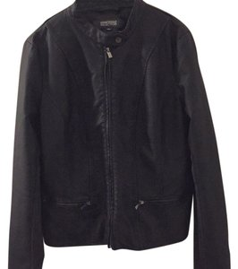 Kenneth Cole Reaction navy blue Leather Jacket