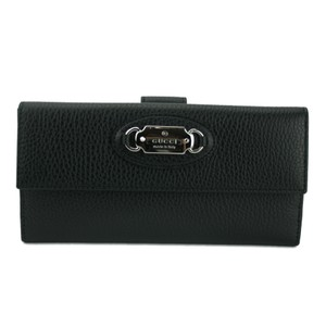 Gucci GUCCI 231841 Women's Leather Continental Wallet w/ Gucci Plaque