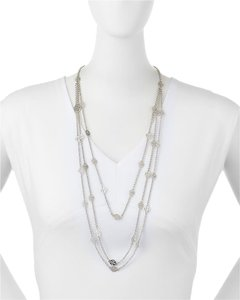 Tory Burch Tory Burch Multi Strand Necklace Silver