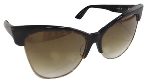 Dita Eyewear New DITA Temtation 22029-B-TRT-GLD-61 Brown Plastic Style with Metal Sunglasses