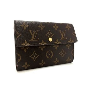 Louis Vuitton Louis Vuitton Signature LV Monogram Porte Tresor W/ Gold Hardware