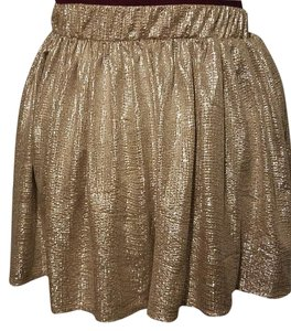 Aropostale Sparkle Skater Mini Skirt Gold