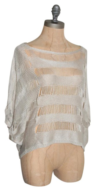 Anthropologie Crochet Free People Theory Alice Olivia Top BEIGE Image 0