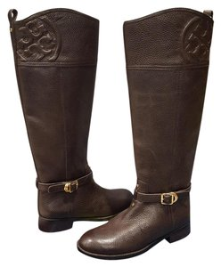 Tory Burch Marlene Riding Leather Brown Boots