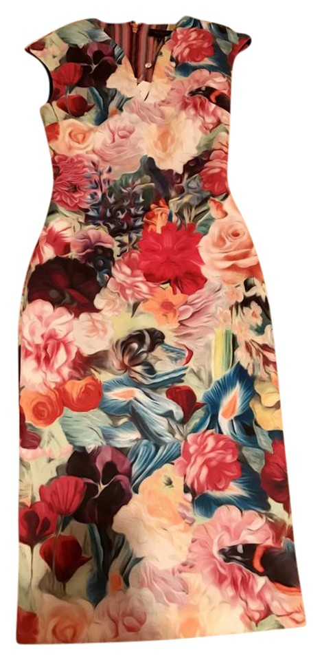 03410bc70c087 Ted Baker Multicolor Odeela Floral Swirl Print Mid-length Cocktail ...
