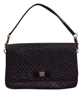 Kate Spade Leather Polka Dot Chain Preppy Shoulder Bag
