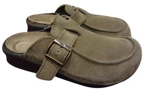 Birkenstock Leather TAUPE Mules