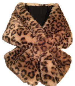 CC SKYE Animal Print Faux Fur Neck Wrap