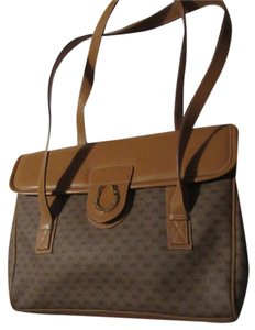 Gucci Bohemian Satchel in brown small G logo print coated canvas and camel leather