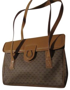 Gucci High-end Bohemian Xl Satchel/Tote Mint Vintage Rare Early Multiple Compartment Satchel in brown small G logo print coated canvas and camel leather