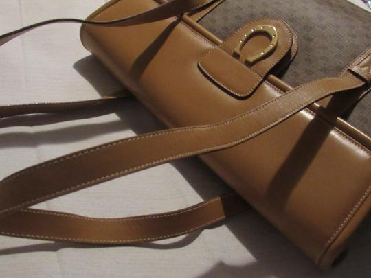 Gucci High-end Bohemian Xl Satchel/Tote Mint Vintage Rare Early Multiple Compartment Satchel in brown small G logo print coated canvas and camel leather Image 1