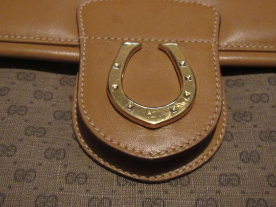 Gucci High-end Bohemian Xl Satchel/Tote Mint Vintage Rare Early Multiple Compartment Satchel in brown small G logo print coated canvas and camel leather Image 3
