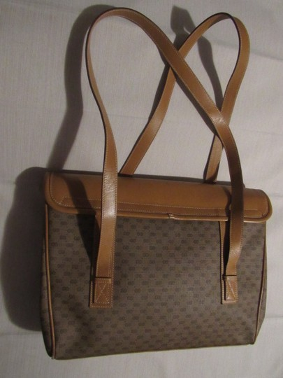 Gucci High-end Bohemian Xl Satchel/Tote Mint Vintage Rare Early Multiple Compartment Satchel in brown small G logo print coated canvas and camel leather Image 5