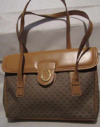 Gucci High-end Bohemian Xl Satchel/Tote Mint Vintage Rare Early Multiple Compartment Satchel in brown small G logo print coated canvas and camel leather Image 9