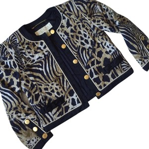 Escada Vintage Cheetah Black and Tan leopard print Blazer