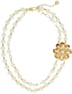 Tory Burch Tory Burch TILDE DOUBLE STRAND SHORT NECKLACE and Natalie stud bundle