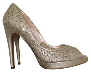 Casadei Pewter Platforms