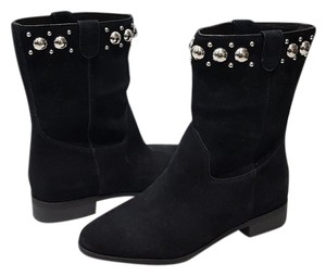 Michael Kors Hayes Suede Leather Black Boots