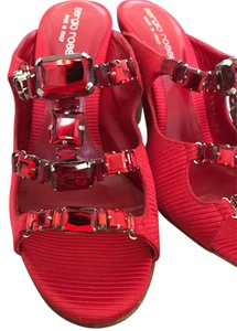 Sergio Rossi Jeweled Special Red Sandals