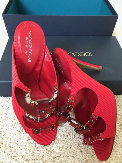 Sergio Rossi Jeweled Special Red Sandals Image 7
