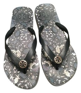 Tory Burch Blue multi Wedges