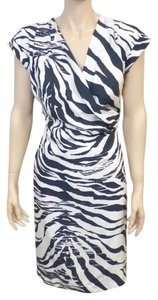 Lafayette 148 New York short dress Multi Animal Print Silk on Tradesy