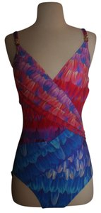 Gottex SOMA COLLECTION GOTTEX COSMIC PETALS CROSSOVER SURPLICE SWIMSUIT