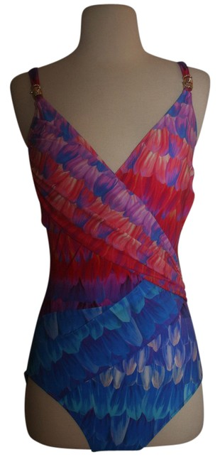 Item - Multicolor Soma Collection Cosmic Petals Crossover Surplice Swimsuit One-piece Bathing Suit Size 10 (M)
