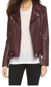 IRO Burgundy Leather Jacket