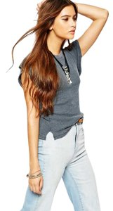 Free People Your Beautiful! T Shirt Slate Blue