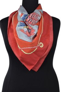 J.McLaughlin J Mclaughlin Womens Coral Pink Scarf One Printed Cotton Casual