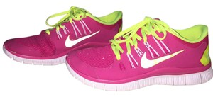 Nike Free Run Pink Neon pink, yellow Athletic