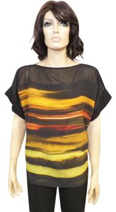 Lafayette 148 New York Silk Top Multi