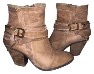 Steve Madden Buckle Cowboy Leather brown Boots