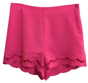 Lush Scalloped Summer Dress Shorts Pink