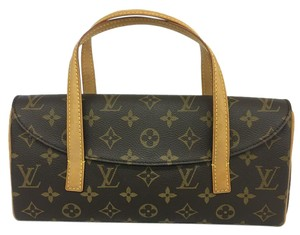 Louis Vuitton Lv Monogram Sonatine Canvas Tote in brown
