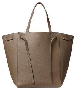 Céline Celine Calfskin Leather Tote in Taupe