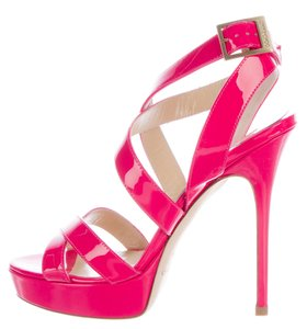 Jimmy Choo Ankle Strap Embellished Pink Sandals